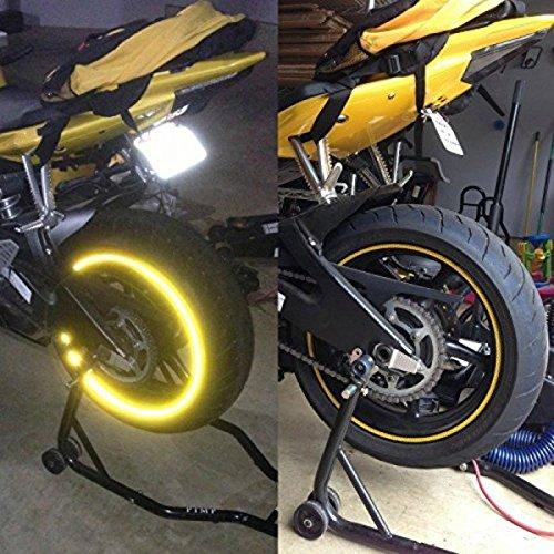 3M, StickersLab, rayas adhesivas para llantas de moto, refractivas y reflectantes, 7mm x 6m