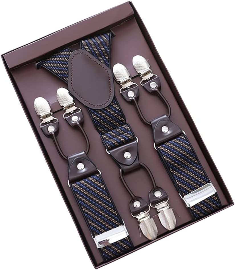 SKREOJF Men's Adult Suspenders, Shirts, Suspenders, Suspenders, Men's Trousers, Suspenders, Suits (Color : D, Size : As the picture shows)