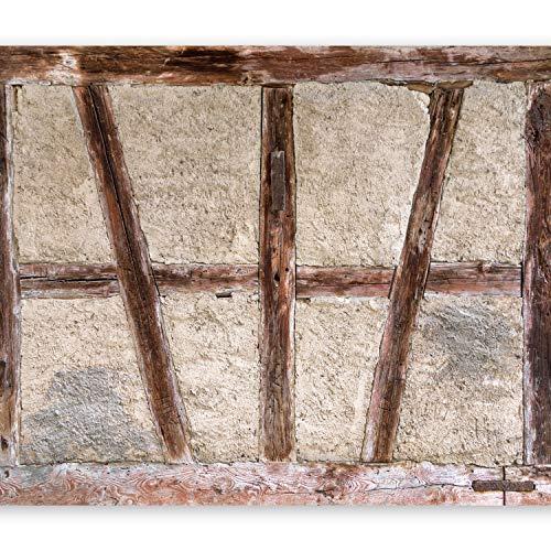 murando Fototapete 350x256 cm Vlies Tapeten Wandtapete XXL Moderne Wanddeko Design Wand Dekoration Wohnzimmer Schlafzimmer Büro Flur Beton Abstrakt Holz Tür f-B-0025-a-a