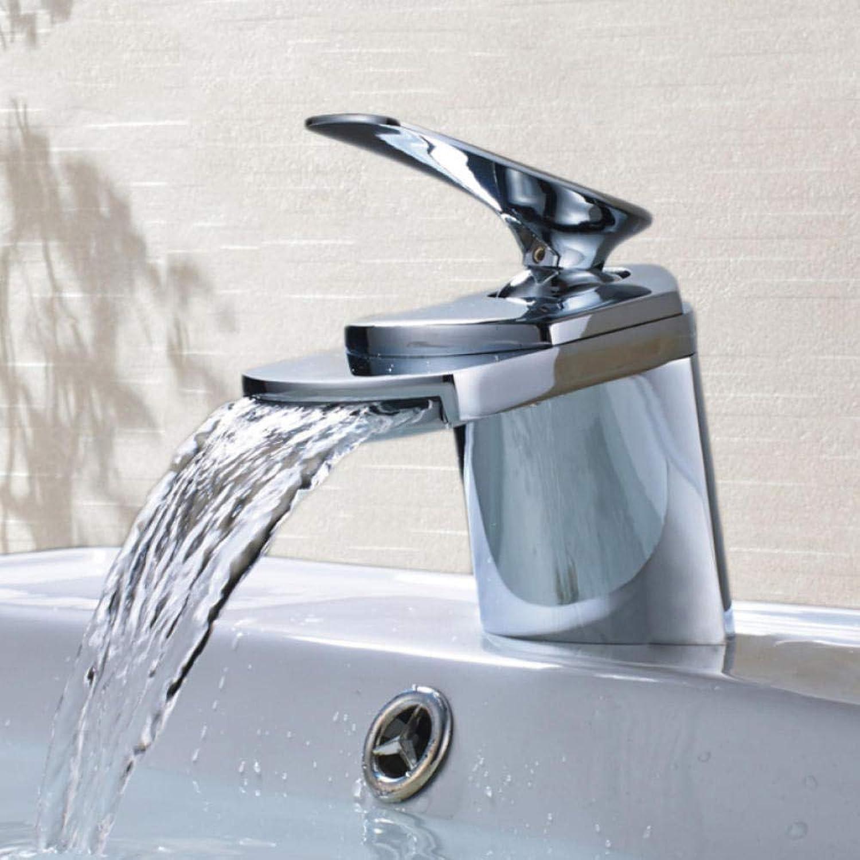 Hiwenr Chrom Poliert Waschbecken Wasserhahn Deck Montiert Waschbecken Wasserhahn Set Mischbatterie Einlochmontage Einhand