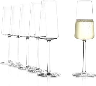 Stölzle Lausitz Power Champagnerkelche 240 ml I Schaumweingläser 6er Set Kristallglas I Sektkelche spülmaschinenfest I Sektglas-Set 6 Stück bruchsicher I wie mundgeblasen I höchste Qualität