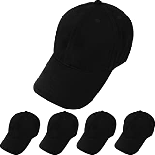 5 Pack Baseball Caps Sublimation Blanks Dad Hat Heat Transfer Adjustable Strap Low Profile Cotton Cap for Men Women Black
