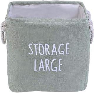 MJY Panier sale carré épaissir jouet organisateur jouet contenant coton draps avec poignée de rangement baril panier à lin...