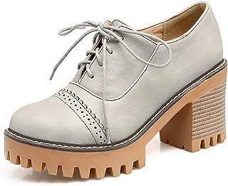 BalaMasa Womens APL12319 Pu Platform Heels