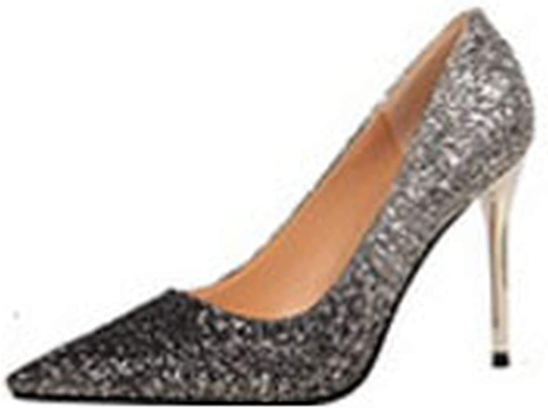 Elegant Women Pumps High Heels Sexy Bling Wedding Pumps Pointed Toe High Heel shoes Women