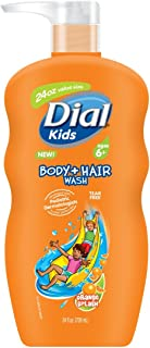 Dial Kids Body + Hair Wash, Orange Splash, 24 Ounce