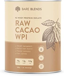 Natural Whey Protein Isolate & Organic Raw Cacao | WPI | Chocolate Whey Protein Powder | Gluten Free | non-GMO | 500g