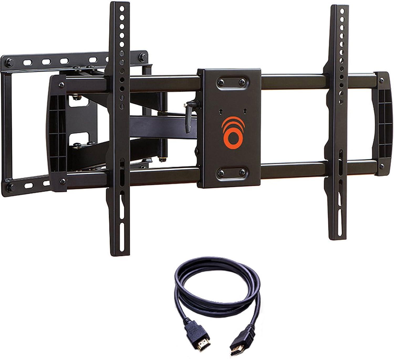 ECHOGEAR Voll Bewegliche TV Wandhalterung, Schwenkbar und Neigbar, für 37 - bis 70 -Zoll-TVs Für TV-Gerte bis zu 59 kg  max VESA 600 x 400  Inklusiv Gratis HDMI Kabel
