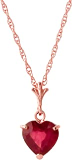 Best gold heart necklace with ruby Reviews