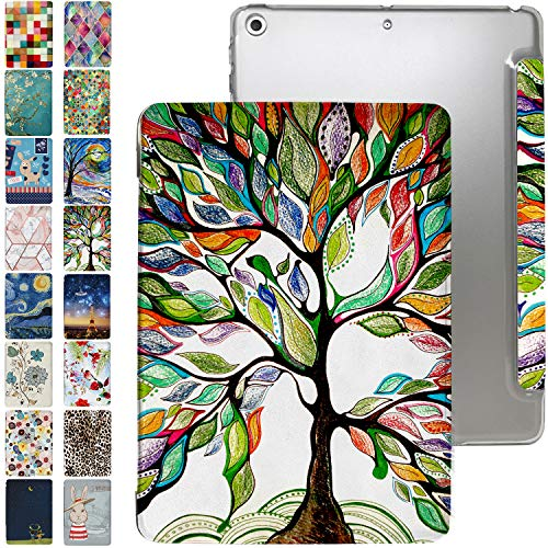 iPad PRO 11 Case 2020 2nd Generation with Slim Fit Dual-Angel Stand & Hard PC Clear Back [Protective Smart Cover] for PRO 11' 2 Gen [Auto Sleep/Wake] - Printed Olivia Tree