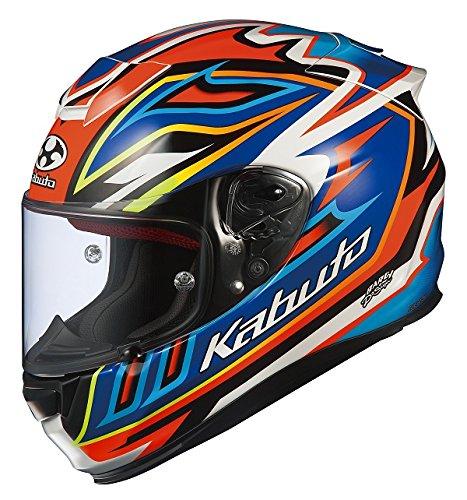 オージーケーカブト(OGK KABUTO)バイクヘルメット フルフェイス RT-33 SIGNAL(シグナル) オレンジブルー (サイズ:L) 577445