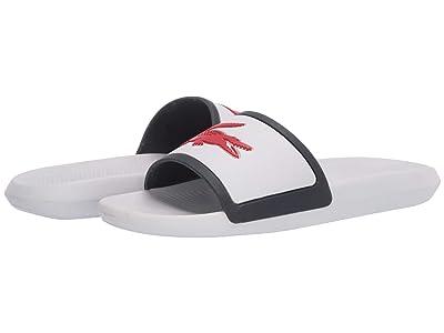 Lacoste Croco Slide Tri 3 (White/Navy/Red) Women