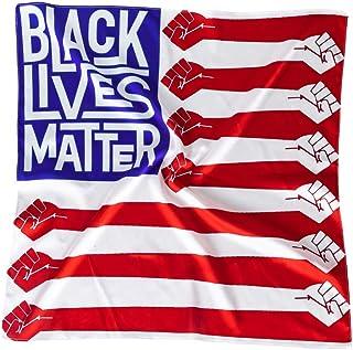 منديل علم بلاك لايفز ماتر - علم الولايات المتحدة الأمريكية منديل رأس متعدد الوظائف أكسسوار للنساء