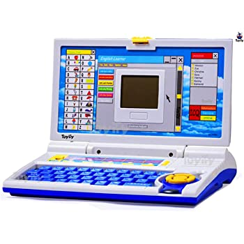 Toyify Educational Laptop Computer Toy with Mouse for Kids Above 3 Years - 65 Fun Activity Learning Machine, Now Learn Letter, Words, Games, Mathematics, Music, Logic, Memory Tool