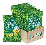 el origen chips di platano bio con sale marino, 8 x 80 g