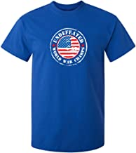 USA Undefeated World War Champs America Graphic Novelty Sarcastic Funny T Shirt