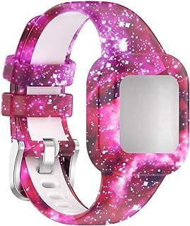 kdjsic Geschikt voor Garmin Garminfit Jr3 en Garmin Vivofit Jr.3 universeel kinderhorloge Effen kleur/kleur siliconen band, O