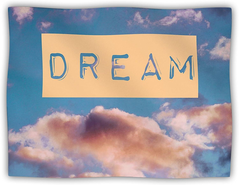 Kess InHouse Iris Lehnhardt DREAM Clouds bluee Pet Blanket, 40 by 30Inch