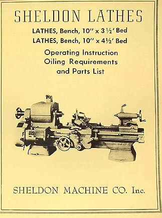 Amazon com: 10 Inch Sheldon Lathe Parts Manual: Books