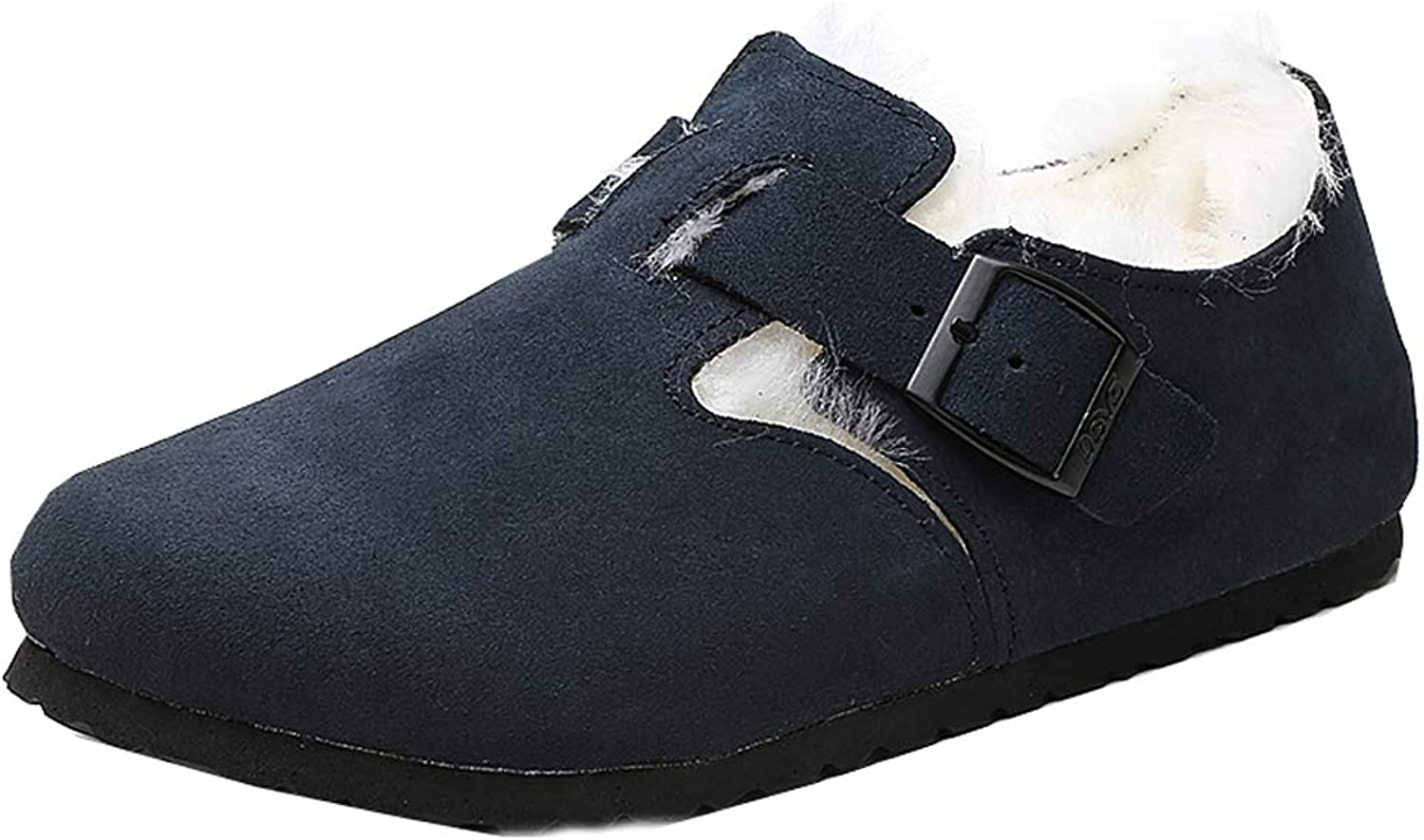 UBCA-DEVO Women Sole Wool Lined Suede Indoor Outdoor Clog Flats Mules