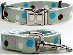 """product image for Diva-Dog 'Metro' Custom Medium & Large Dog 1"""" Wide Dog Collar with Plain or Engraved Buckle, Matching Leash Available - M/L, XL"""