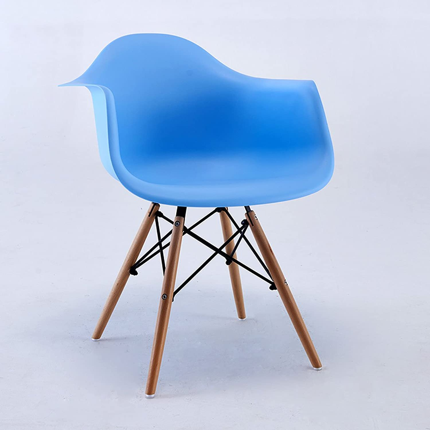 CJH Home Leisure Simple Computer Chair Study Office Chair Conference Chair (color   bluee)