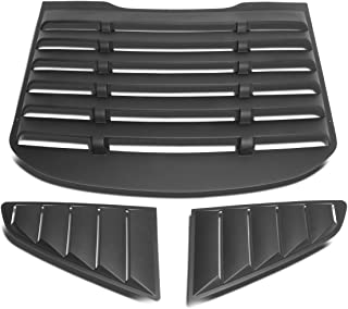 DNA MOTORING ZTL-Y-0001 Pair Rear Quarter Side Window Louver (15-18 Ford Mustang Coupe)