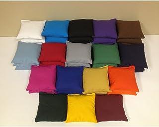 AJJ Cornhole Tournament Cornhole Bags - Set of 8, Maroon - Royal Blue, 10 oz. Duck Cloth