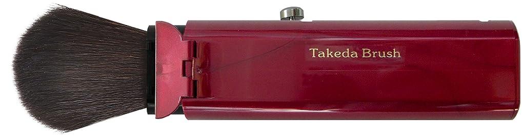 サンダー生息地反毒Takeda Brush 蓋付スライド式携帯用チーク&フェイスブラシ WR FG