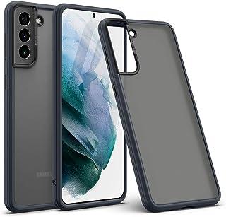 CYRILL von Spigen Color Brick kompatibel mit Samsung Galaxy S21 Hülle, (2021) (6,2 Zoll) Matte Cover Halbdurchsichtige Black PC rückseite mit Soft TPU   Schwarz