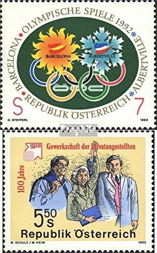 Oostenrijk Mi.-Aantal.: 2048,2049 (compleet.Uitgaven) 1992 Speciale postzegels (Postzegels voor verzamelaars) Olympische spelen