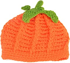 Baby Pumpkin Hat Toddler Beanie Crochet Knitted Cap for Halloween Costume ZMZ02