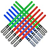 Inflatable Army 12 Inflatable Light Saber Sword Toys - 4 Green, 4 Red 4 Blue Lightsabers - Party Favor, Halloween Costume, Treats, Christmas Stocking Stuffer, Pool, Yoda, Sith, Jedi