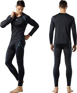 طقم ملابس داخلية حرارية رجالي من FITEXTREME MAXHEAT طويل مع بطانة من الصوف