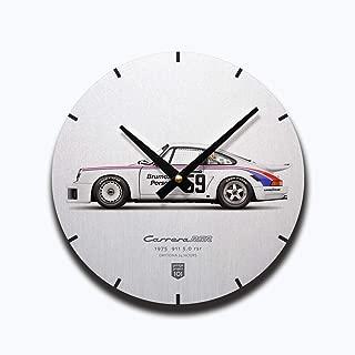 GarageProject101 1975 Classic 911 Carrera 3.0 RSR (Daytona 24 Hours) Illustration Wall Clock