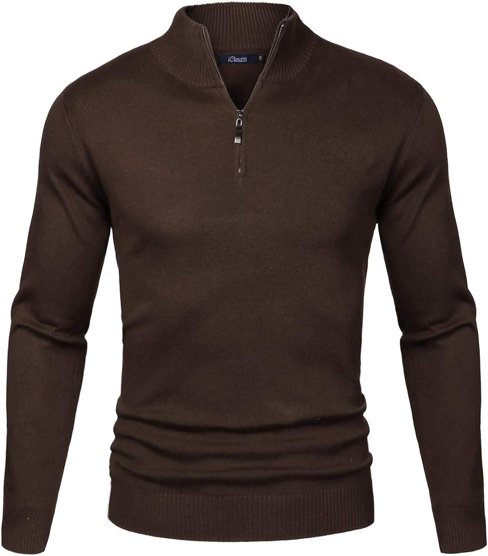 iClosam Pull Homme /à Col en V Pull-Over Hommes Pull Tricot/é en Maille Pull /à Coton Classiques