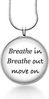 Quote Necklace Breath in Breathe Out Move Jimmy Song Jewelry
