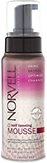 Norvell Sunless Self Tanner Mousse with Bronzer - Instant Natural Looking Bronzing Glow, 8 fl.oz.