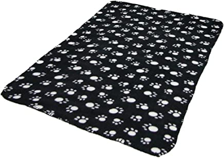 Royare Lovely Dog Pet Paw Printing Blanket Pad Mat Black