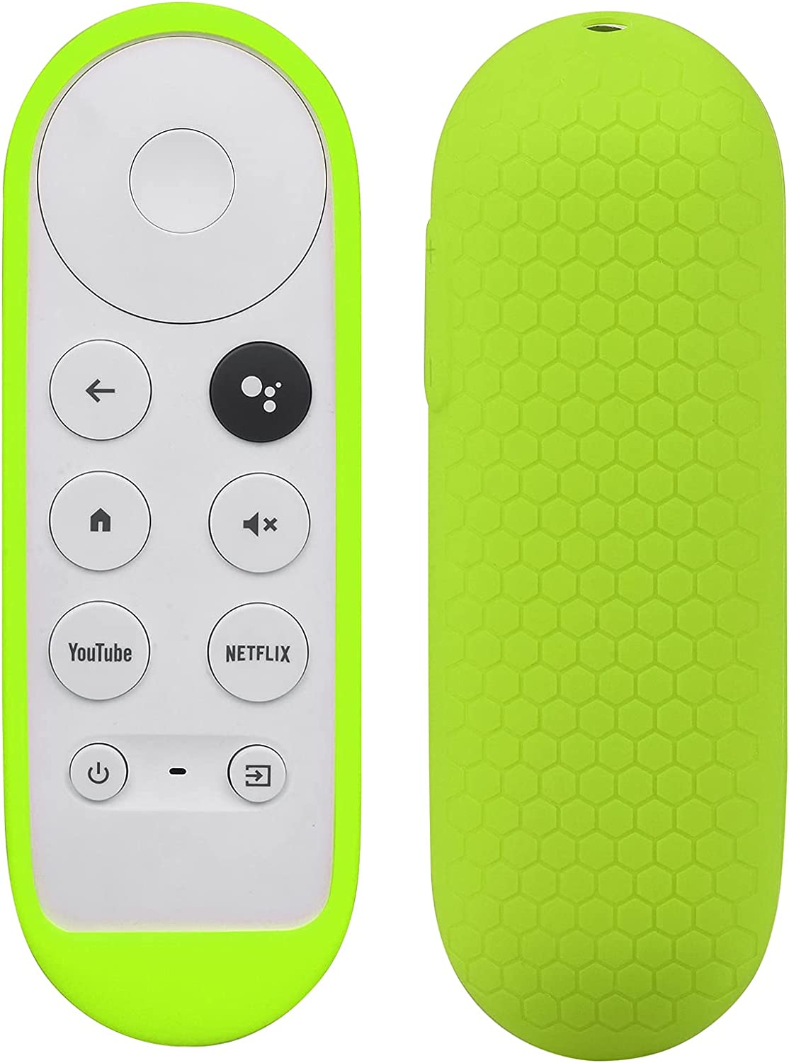 Silicone Case Compatible with Google TV 2020 Voice Remote - SYMOTOP Shockproof Protective Remote Cover Skin Compatible with Chromecast with Google TV 2020 Voice Remote Control - Green
