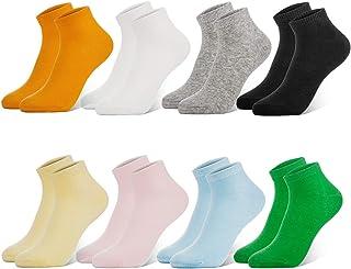 Newdora, Calcetines Mujer, 8 Pares Calcetines Tobilleros Mujer Cortos e Invisibles, Antideslizante Algodón Calcetines transpirables e deportivos