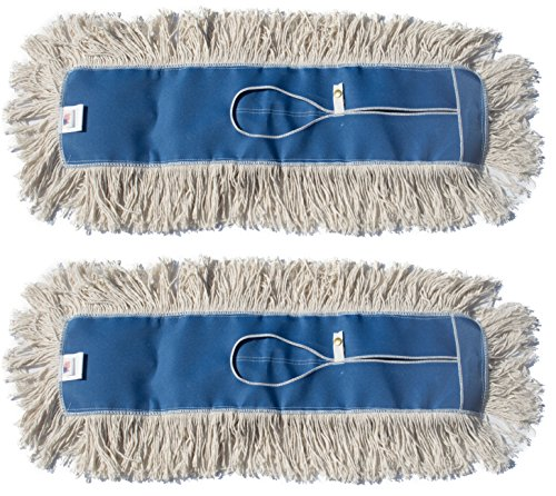 Nine Forty Industrial | Commercial USA Cotton Floor Dust Mop Head Refill | Replacement (2 Pack, 24