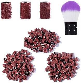 Kalolary 300 bandas de lija profesionales para brocas de uñas, tamaño #80#120#180, juego de piezas de lija con removedor d...