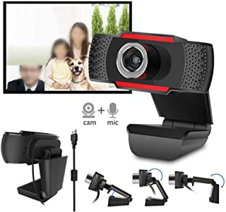 Anonyme Web Camera HD Built-in Sound-Absorbing Microphone Manual Focusing Computer Camera Webcams Black