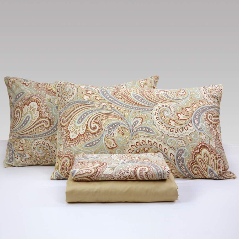 Paisley Bedding  4Pcs Bed Sheet Set