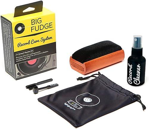Big Fudge Kit de Nettoyage pour Disque Vinyle   Accessoires et Outils de Professionnel pour Vinyles   Bouteille de Ne...