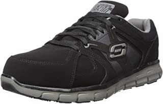 Skechers for Work Men's Synergy Ekron Work Shoe,Black/Charcoal,11 W US