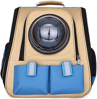 MAOSHE Dog Cat Pet Carrier Backpack Ventilated Design Cat Backpack Airline Travel Approved Dog Hiking Backpack Waterproof Pet Backpack Carrier Hiking Camping Outdoor (Color : B)