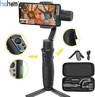 Hohem iSteady Mobile Plus Handheld Smartphone Gimbal Estabilizador de mano de 3 ejes para iPhone X XR XS Modo de inicio deportivo Visual Auto Tracking 280g Payload para vlog youtube travelling