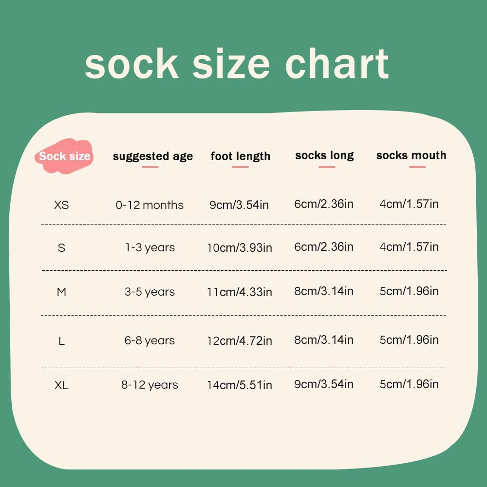 Cotton Socks 5 Pairs Fashion Crew Socks for Newborn Baby Girls Boys